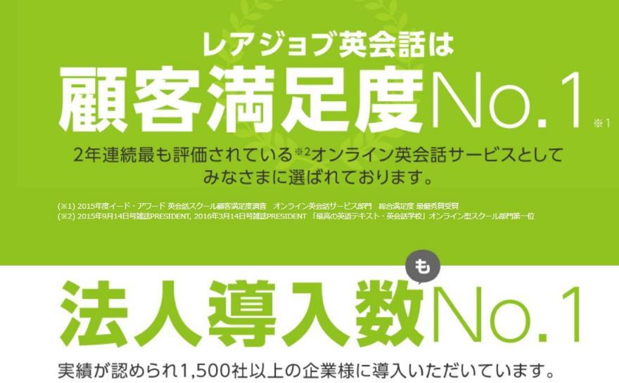 レアジョブ 口コミ 評判 料金
